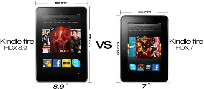 kindle fire hdx 8.9 vs kindle fire hdx 7