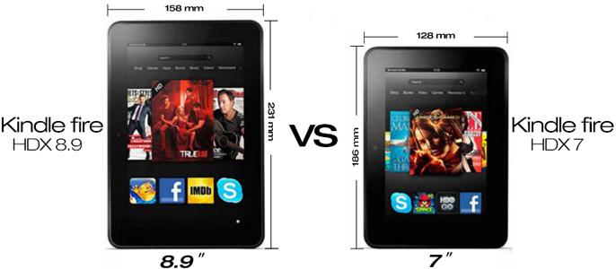 Reviews: Kindle Fire HDX 8.9 VS Kindle Fire HDX 7